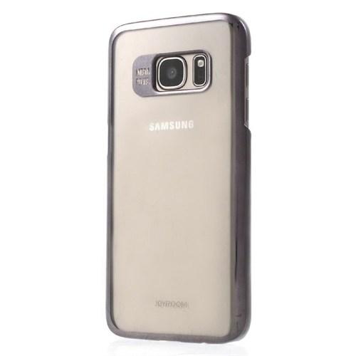 Joyroom Samsung Galaxy S7 Metalik Siyah Kenarlı Kristal Kılıf