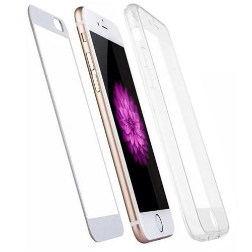 Joyroom iPhone 6 Plus-6S Plus 360 Derece Tam Koruma Şeffaf Silikon Kılıf