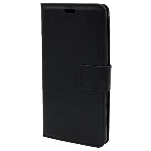 Kny Asus Zenfone 6 Cüzdanlı Kapaklı Kılıf Siyah Kılıf+Kırılmaz Cam