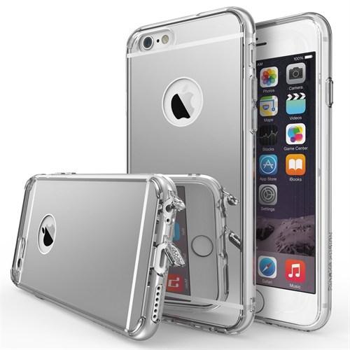 Ringke Mirror Fusion iPhone 6s/ 6 Aynalı Kılıf Silver - Extra Darbe Emici