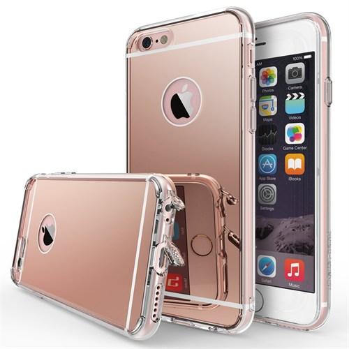 Ringke Mirror Fusion iPhone 6s/ 6 Aynalı Kılıf Rose Gold - Extra Darbe Emici