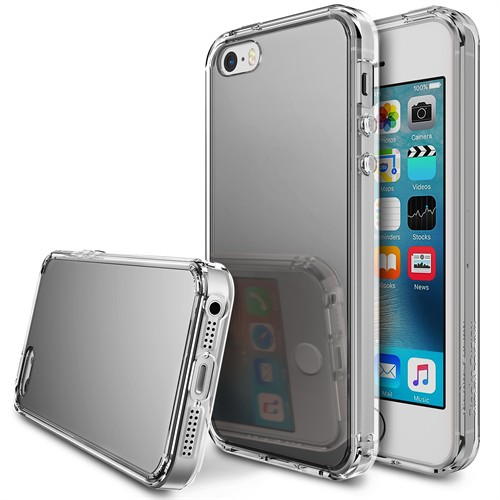 Ringke Apple İphone Fusion Se/ 5S/ 5 Mirror Fusion Silver Kılıf
