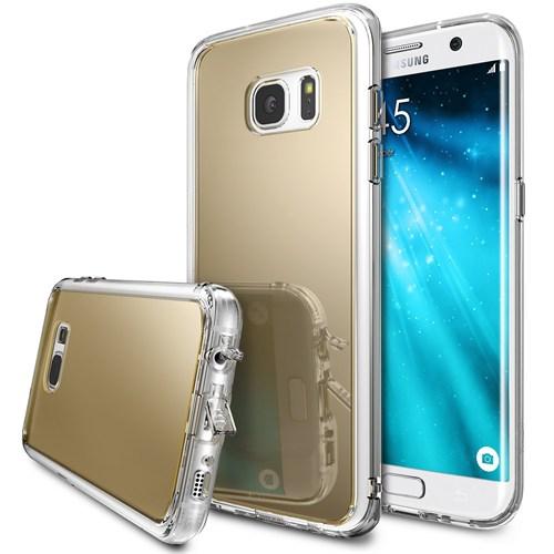Ringke Mirror Fusion Galaxy S7 Edge Aynalı Kılıf Royal Gold - Extra Darbe Emici