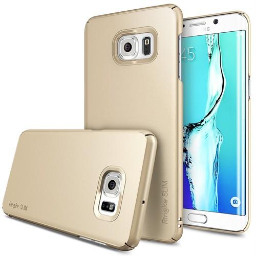 Ringke Slim Galaxy S6 Edge Plus Kılıf Royal Gold - 4 Tarafı Saran İnce Şık Tasarım