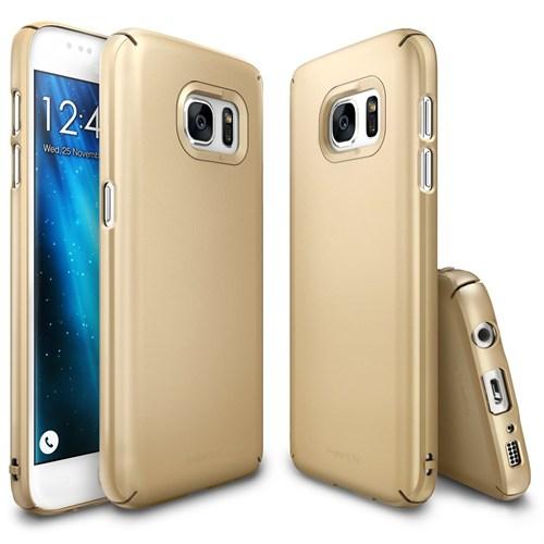 Ringke Slim Galaxy S7 Kılıf Royal Gold - 4 Tarafı Saran İnce Şık Tasarım