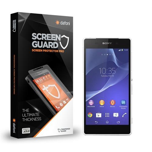 Dafoni Sony Xperia Z2 Ön + Arka Tempered Glass Premium Cam Ekran Koruyucu