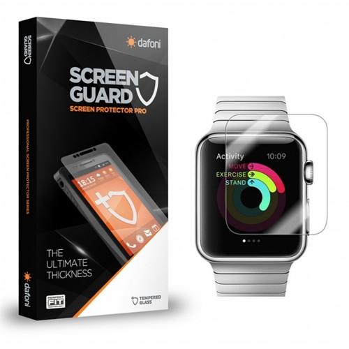 Dafoni Apple Watch Tempered Glass Premium Cam Ekran Koruyucu (38 Mm)