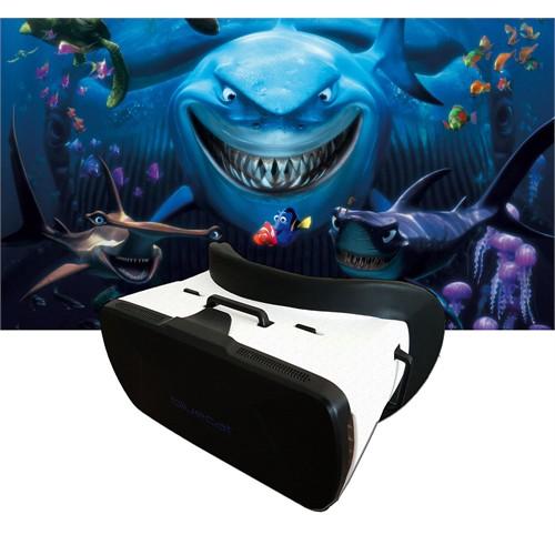 Bluecat Virtual Reality Sanal Gerçeklik Gözlüğü 3D Vr Box 37Mm Hd Lens 360 Derece Görüntü