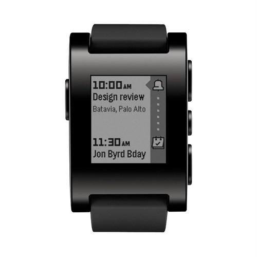 Pebble Akıllı Saat (iOS ve Android) Siyah