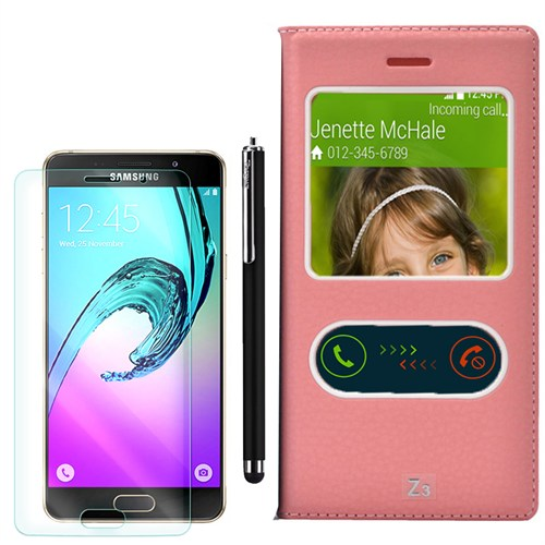 Cep Market Samsung Galaxy Z3 Kılıf Pencereli Dolce +Kalem+Kırılmaz Cam