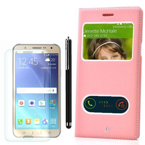 Cep Market Samsung Galaxy J7 Kılıf Pencereli Dolce +Kalem+Kırılmaz Cam
