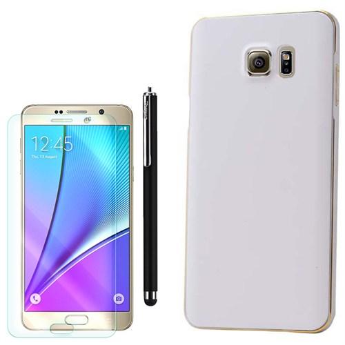 Cep Market Samsung Galaxy Note 5 Kılıf Rubber Bumper +Kalem+Kırılmaz Cam