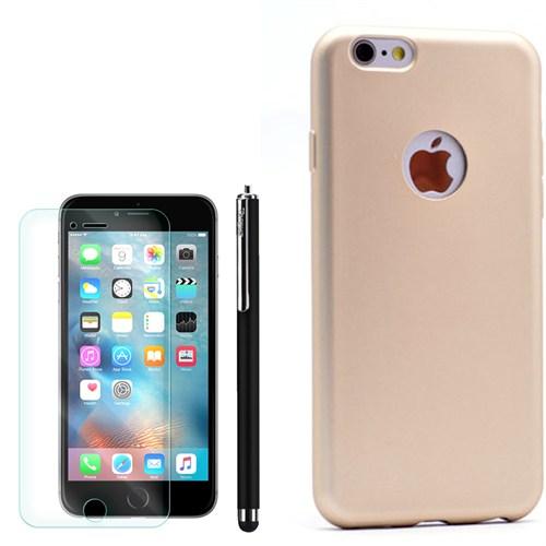 Cep Market Apple İphone 6 Plus Kılıf Premier Silikon +Kalem+Kırılmaz Cam