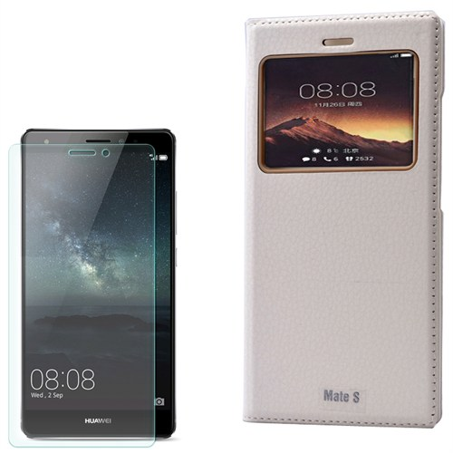 Cep Market Huawei Ascend Mate S Kılıf Pencereli Dolce + Kırılmaz Cam