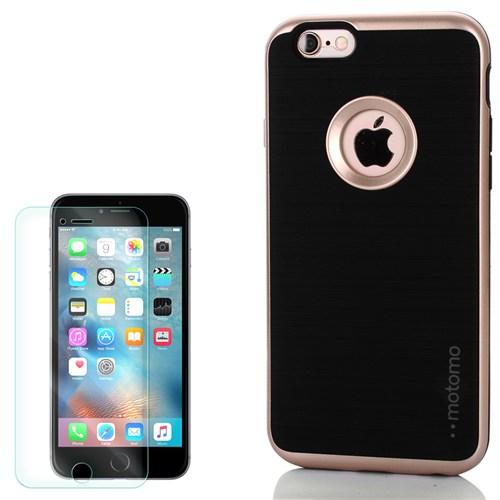 Cep Market Apple İphone 5 Kılıf Motomo Sert Kapak + Kırılmaz Cam
