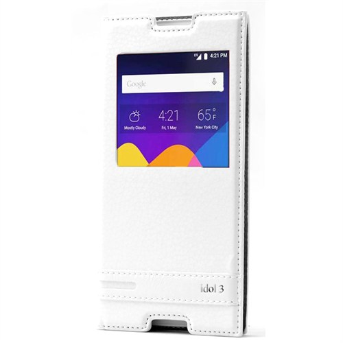 Cep Market Alcatel İdol 3 One Tocuh 5.5 Kılıf Pencereli Elite