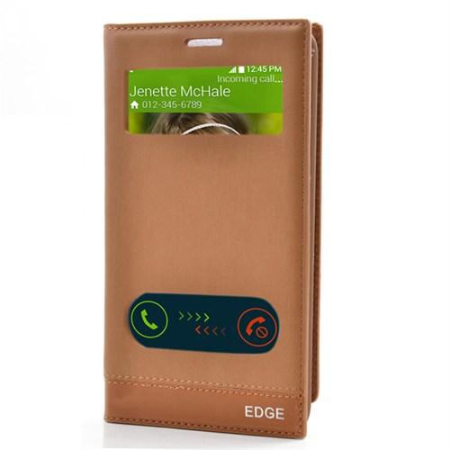 Cep Market Samsung Galaxy Note Edge Kılıf Çift Pencere Milano