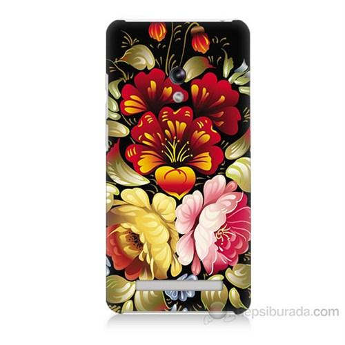 Teknomeg Asus Zenfone 5 Lite Çiçekler Baskılı Silikon Kapak Kılıf