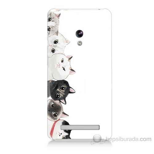 Teknomeg Asus Zenfone 5 Lite Kediler Baskılı Silikon Kapak Kılıf