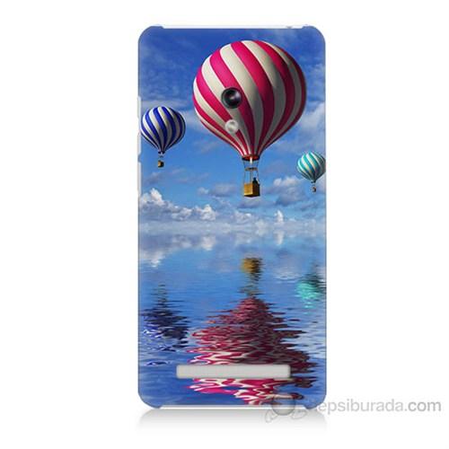 Teknomeg Asus Zenfone 5 Lite Renkli Balonlar Baskılı Silikon Kapak Kılıf