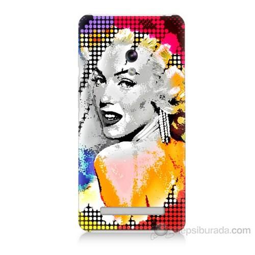 Teknomeg Asus Zenfone 5 Lite Marilyn Monroe Baskılı Silikon Kapak Kılıf