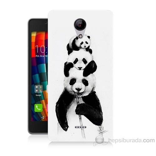 Teknomeg Casper Via E1 Panda Ailesi Baskılı Silikon Kapak Kılıf