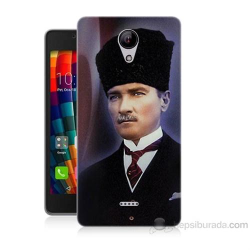 Teknomeg Casper Via E1 Mustafa Kemal Atatürk Baskılı Silikon Kapak Kılıf
