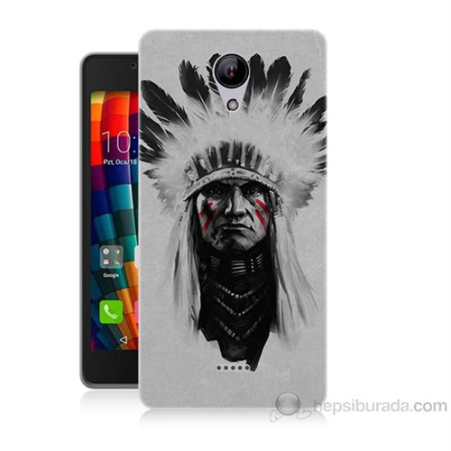 Teknomeg Casper Via E1 Geronimo Baskılı Silikon Kapak Kılıf