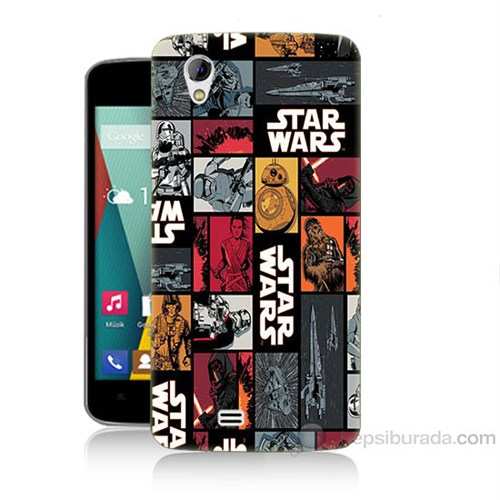 Teknomeg General Mobile Discovery 2 Mini Star Wars Baskılı Silikon Kapak Kılıf