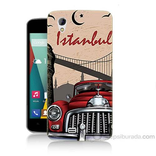 Teknomeg General Mobile Discovery 2 Mini İstanbul Baskılı Silikon Kapak Kılıf