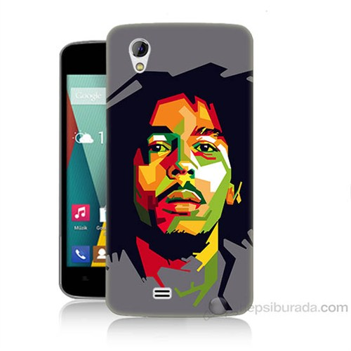 Teknomeg General Mobile Discovery 2 Mini Bob Marley Baskılı Silikon Kapak Kılıf