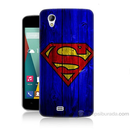 Teknomeg General Mobile Discovery 2 Mini Superman Baskılı Silikon Kapak Kılıf