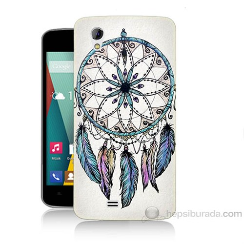 Teknomeg General Mobile Discovery 2 Mini Dream Catcher Baskılı Silikon Kapak Kılıf