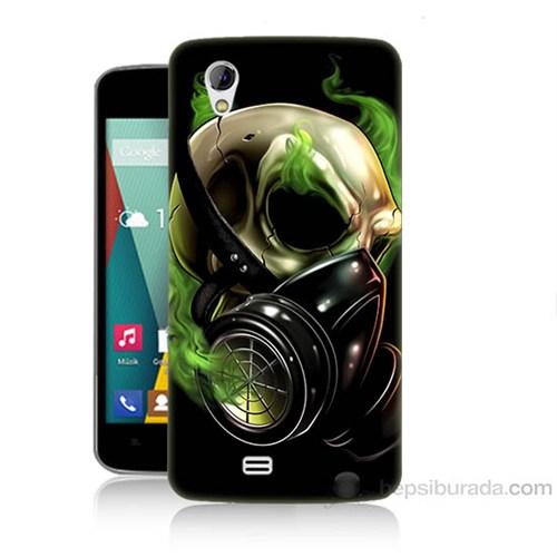 Teknomeg General Mobile Discovery 2 Mini Ölüm Maskesi Baskılı Silikon Kapak Kılıf