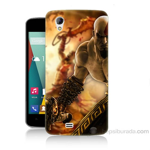 Teknomeg General Mobile Discovery 2 Mini God Of War Baskılı Silikon Kapak Kılıf