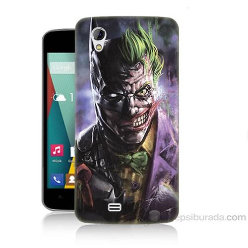 Teknomeg General Mobile Discovery 2 Mini Joker Vs Batman Baskılı Silikon Kapak Kılıf