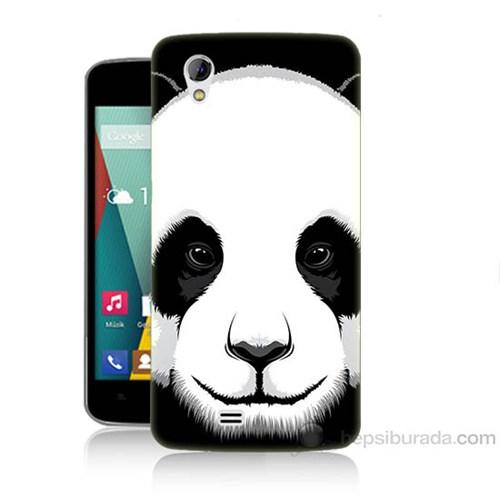 Teknomeg General Mobile Discovery 2 Mini Panda Baskılı Silikon Kapak Kılıf
