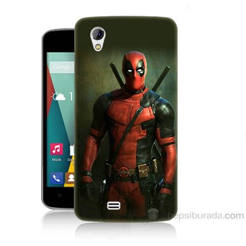 Teknomeg General Mobile Discovery 2 Mini Deadpool Baskılı Silikon Kapak Kılıf