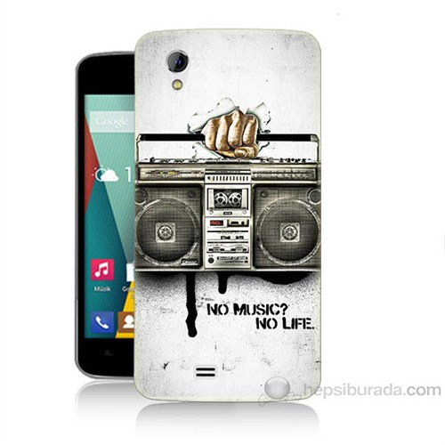 Teknomeg General Mobile Discovery 2 Mini Müzik Hayattır Baskılı Silikon Kapak Kılıf