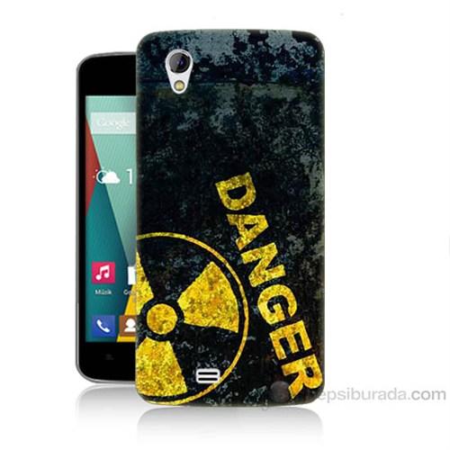 Teknomeg General Mobile Discovery 2 Mini Tehlikeli Baskılı Silikon Kapak Kılıf