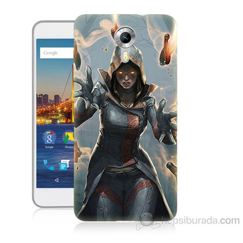 Teknomeg General Mobile Discovery 4G Android One Büyücü Baskılı Silikon Kapak Kılıf