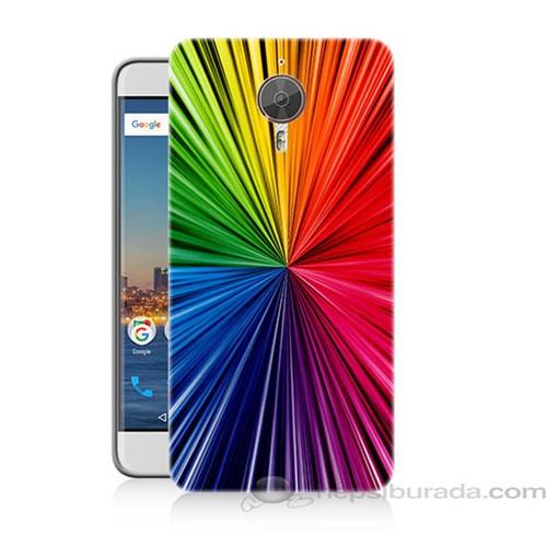 Teknomeg General Mobile Discovery Gm5 Plus Renkler Baskılı Silikon Kapak Kılıf