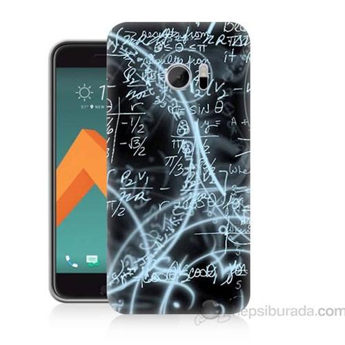 Teknomeg Htc Desire 10 Matematik Baskılı Silikon Kapak Kılıf
