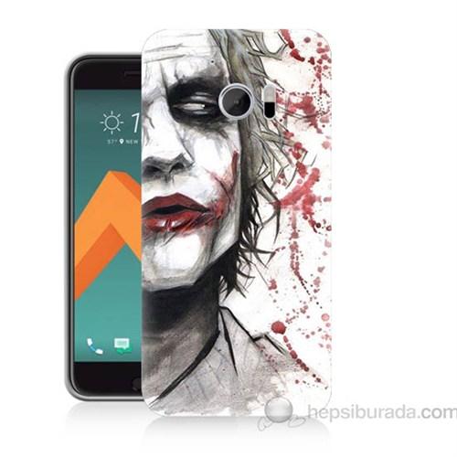 Teknomeg Htc Desire 10 Kanlı Joker Baskılı Silikon Kapak Kılıf