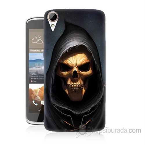 Teknomeg Htc Desire 828 Ölüm Meleği Baskılı Silikon Kapak Kılıf
