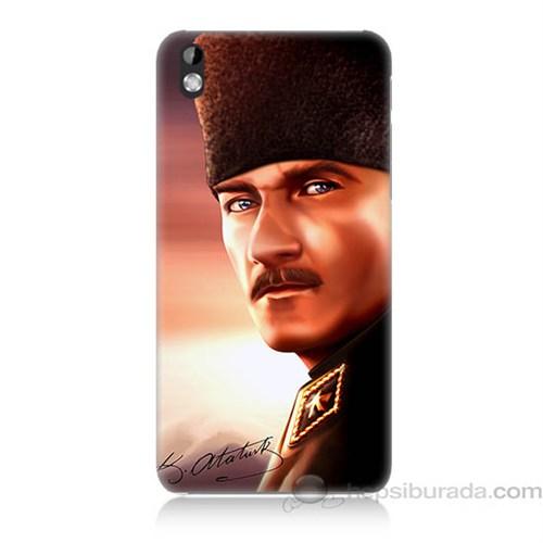 Teknomeg Htc Desire 816 Mustafa Kemal Baskılı Silikon Kapak Kılıf