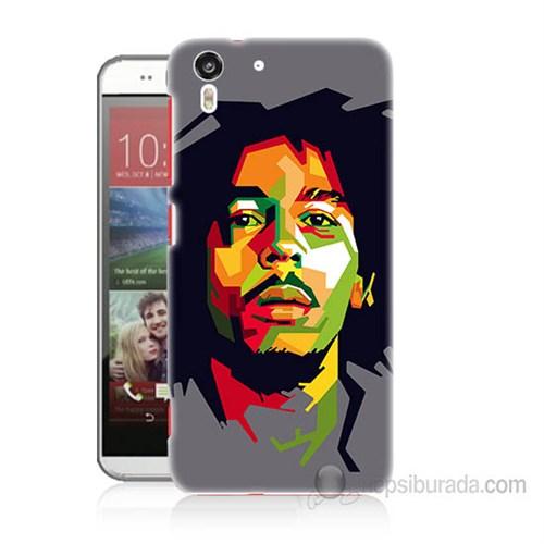 Teknomeg Htc Desire Eye Bob Marley Baskılı Silikon Kapak Kılıf