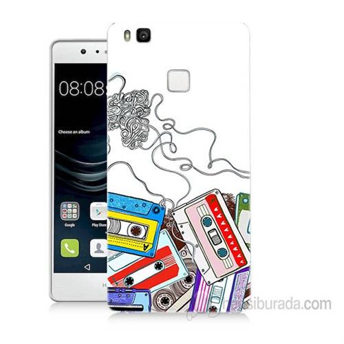 Teknomeg Huawei P9 Lite Kasetler Baskılı Silikon Kapak Kılıf