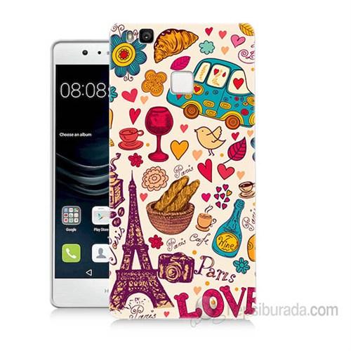Teknomeg Huawei P9 Lite Paris Love Baskılı Silikon Kapak Kılıf