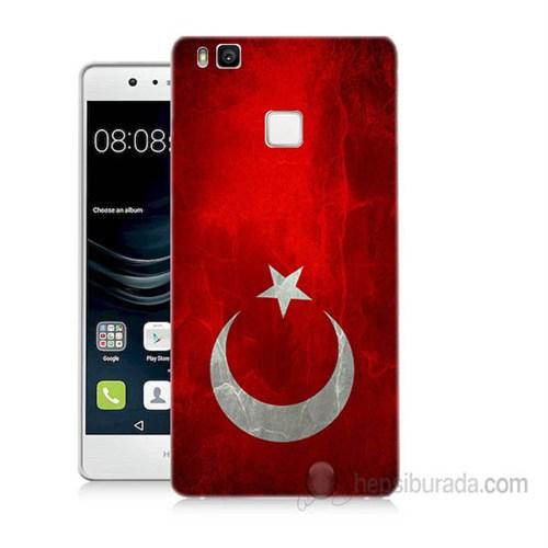 Teknomeg Huawei P9 Lite Türkiye Bayrağı Baskılı Silikon Kapak Kılıf